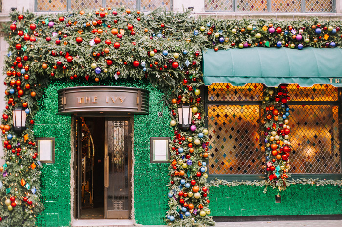 baubles, christmas floral design, christmas in london, christmas lights, creative floral installations, creative london florist, doorways, Early Hours London, iconic stores in london, kings road, london christmas, london facades, London florist, london flowers, places to visit in london, pretty little london, shop windows, showdry, Store Fronts, The Ivy, The ivy Cafe, The Ivy Restuarant, visit london, Wimbledon