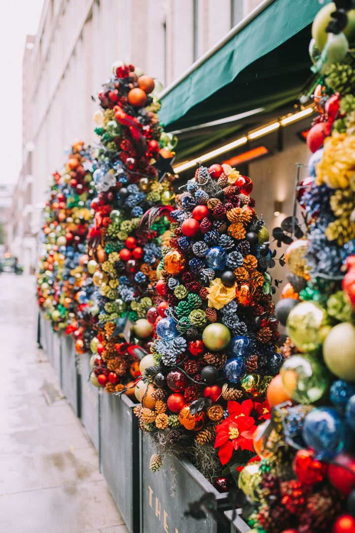 Christmas Floral Installations Iconic London Storefronts