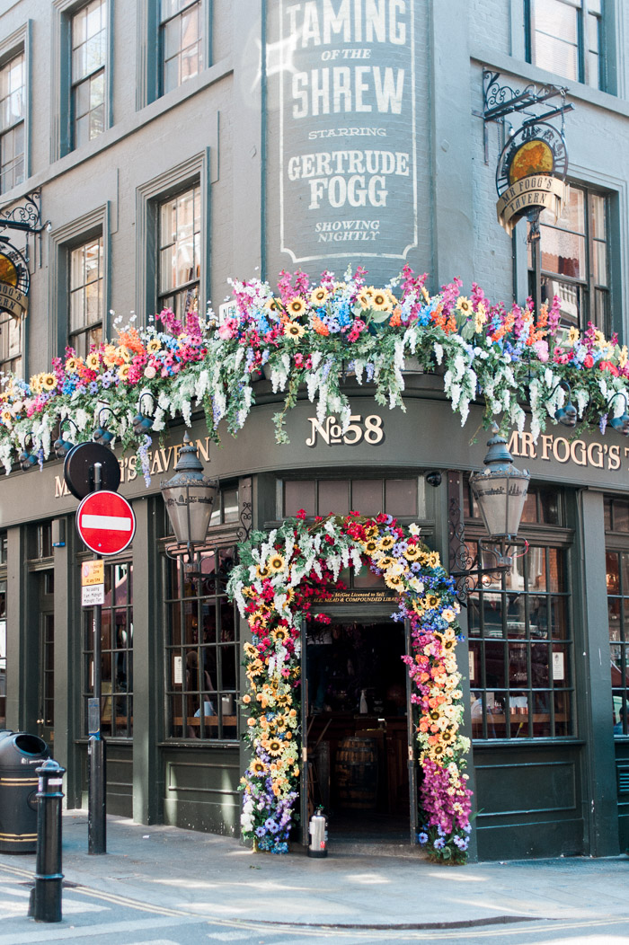 mr fogg's tavern, Chelsea flower show 2017, creative floral installations, Early Hours London, Early Hours LTD, Floral commissions, flower artists, flower boxes, flower week, japanese floral installation, London florist, London in bloom, London in Summer, london shop fronts, Sexy Fish London, shop fronts, spring flower displays, summer flower displays, Tropical floral installation, Uk wedding florist, wedding flowers, daphnes, Ivy market grill, floral swing, love swing, covent garden, covent garden in bloom, Halloween floral installations, easter floral installations, valentine flowers, best london florist, floral commissions, innovative floral displays, innovative floral designs, colourful floral designs, iconic london storefronts, pretty london doors, pretty little london, london facades, famous london stores, famous london restaurants, top london restaurants