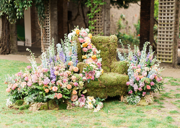 midsummer nights dream flowers, birthday party flowers, bubblegum balloons, cool kids party, delphiniums, Early Hours London, epic flower displays, epic kids party, fern balloons, floral artists, Floral Installations, flower jars, kate neilen photography, kids birthday party decoration, London florist, london flowers, magical flower display, midsummers night dream party, moss chair, one stylish day, party ideas, pastel florals, pastel wedding flowers, roses, snapdragons, whimiscial wedding flowers