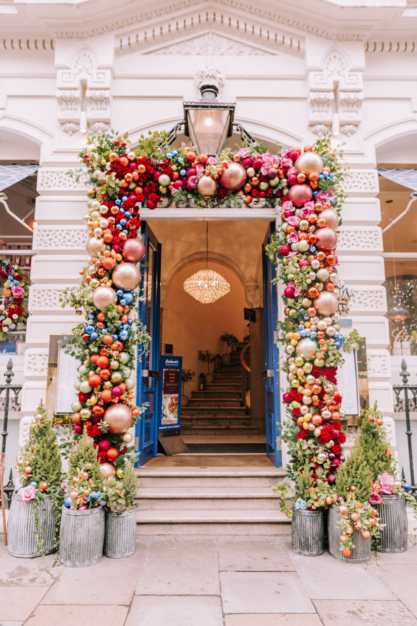 luxury christmas installations, london christmas 2019, luxury london florist, uk celebrity florist