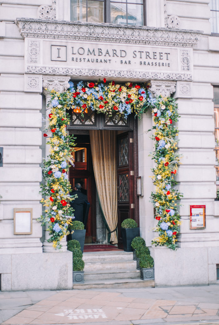 1 lombard street, early hours london, easter blooms, easter bunnies, easter flowers, easter installations, easter rabbits, Floral bike, floral installations, floral wall, iconic london restuarants, iconic london shops, london florist, spring flowers