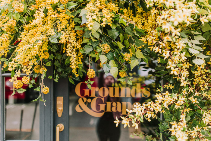 doors of london, early hours london, easter blooms, easter bunnies, easter flowers, easter installations, floral installations, floral wall, Grounds and Grapes, london florist, spring flower display, spring flowers