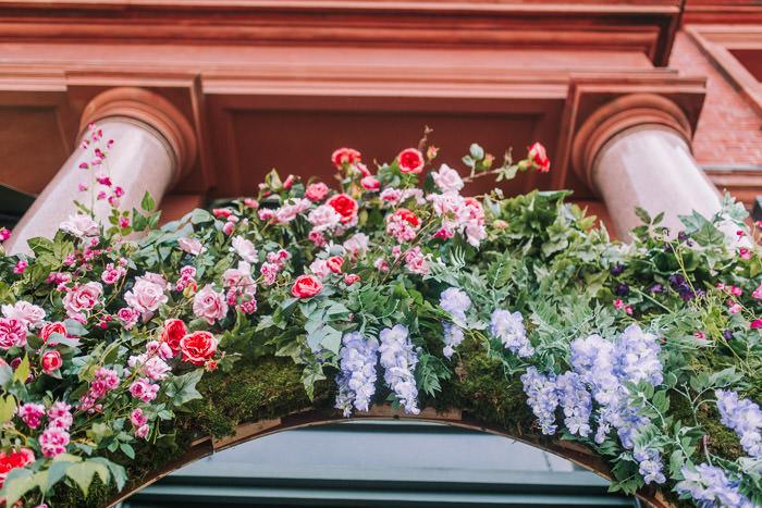 doors of london, early hours london, easter blooms, easter bunnies, easter flowers, easter installations, easter rabbits, floral installations, floral wall, iconic london restuarants, iconic london shops, ivy wimbledon, london florist, spring flowers, wimbledon