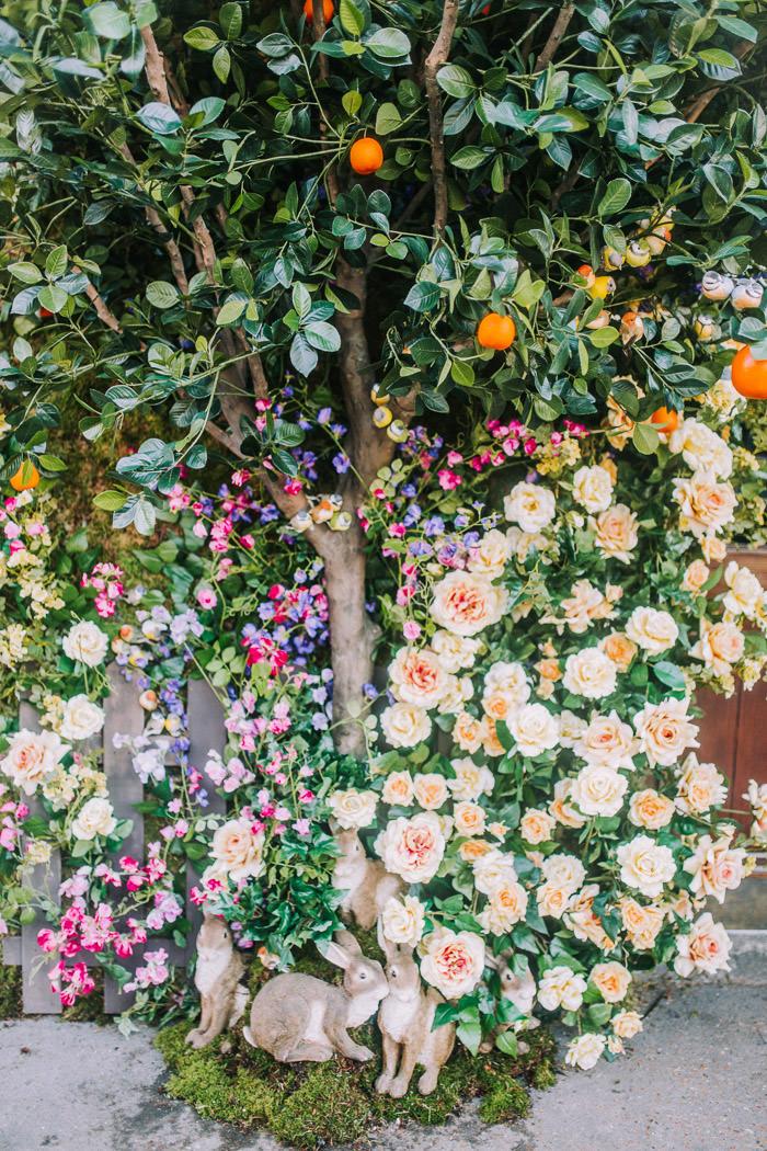 doors of london, early hours london, easter blooms, easter bunnies, easter flowers, easter installations, easter rabbits, floral installations, floral wall, iconic london restuarants, iconic london shops, ivy chelsea garden, kings road, Knightsbridge, london florist, spring flowers