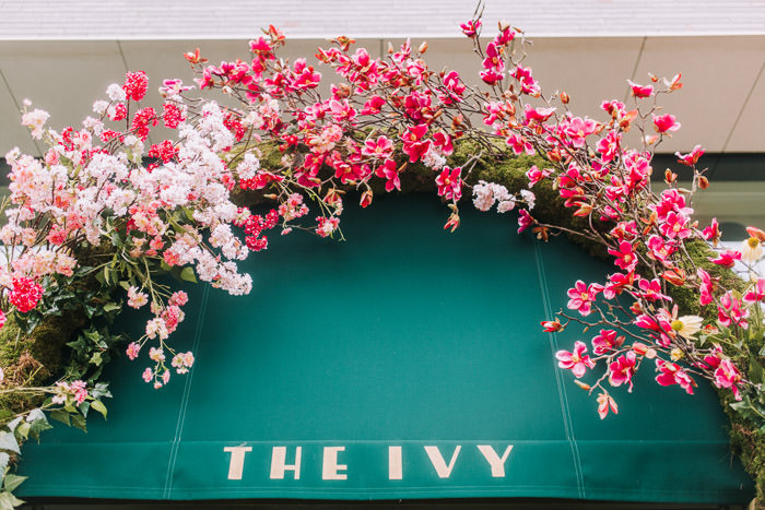 doors of london, early hours london, easter blooms, easter flowers, easter installations, floral arch, floral installations, floral wall, iconic london restuarants, iconic london shops, ivy tower bridge, london florist, spring flowers