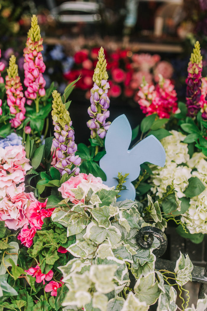 doors of london, early hours london, easter blooms, easter bunnies, easter flowers, easter installations, easter rabbits, floral installations, floral wall, iconic london restuarants, iconic london shops, london florist, mayfair, spring flowers, The mount Street deli