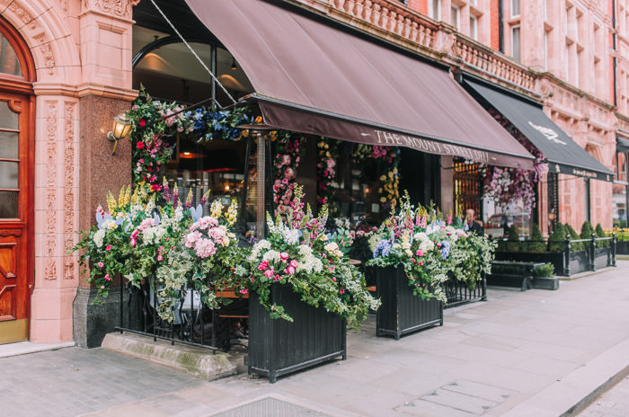 doors of london, early hours london, easter blooms, easter bunnies, easter flowers, easter installations, easter rabbits, floral installations, floral wall, iconic london restuarants, iconic london shops, london florist, mayfair, spring flowers, The mount Street deli