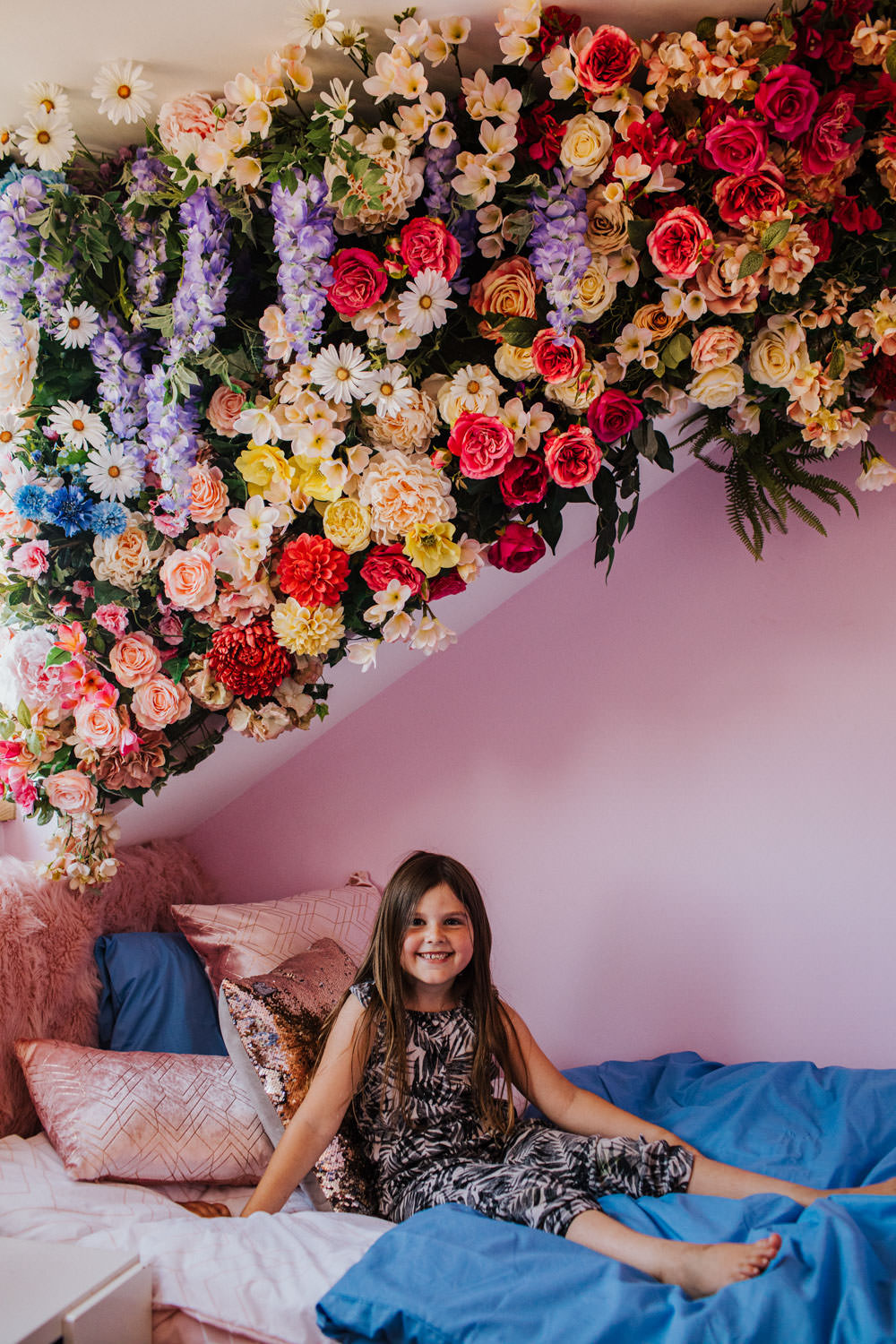 early hours at home, early hours florist, Early Hours London, early hours ltd, floral wall, flower inspired kids bedroom, garden of eden, girls bedroom inspiration, home floral wall, indoor floral wall