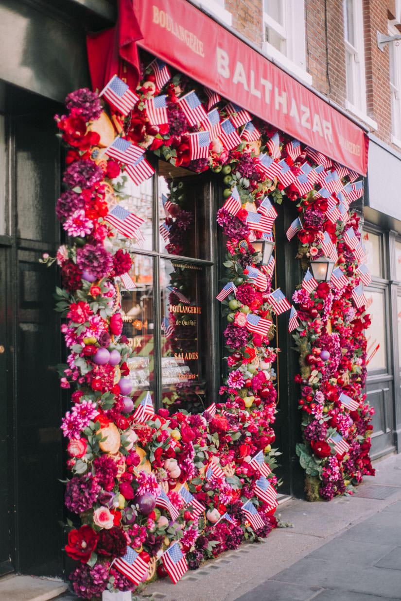 Balthazar July 4th Floral installation