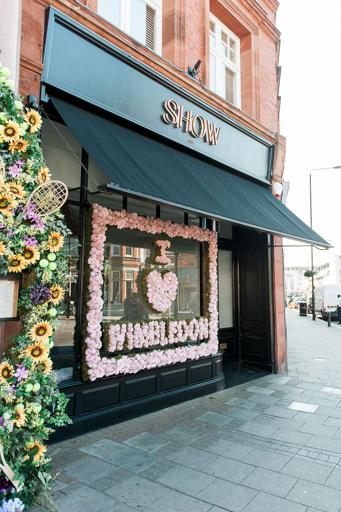 Creative window displays, Early Hours London, Innovative florist, London in bloom, London in bloom London Shop Displays, Store Fronts, Wimbledon shops, WIndow displays